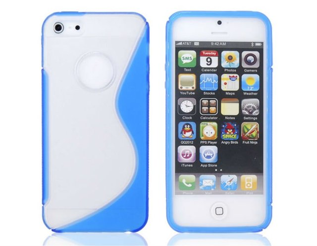 Free shipping Fashion Matte S Pattern Protective Case for iPhone 5 (Blue) Items