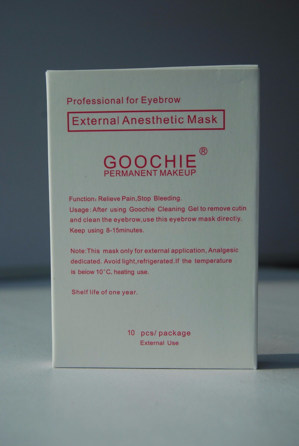 Goochie Permanent Makeup Topical Preoperation Painless Eyebrow mask Patch 10pcs/lot(China (Mainland))