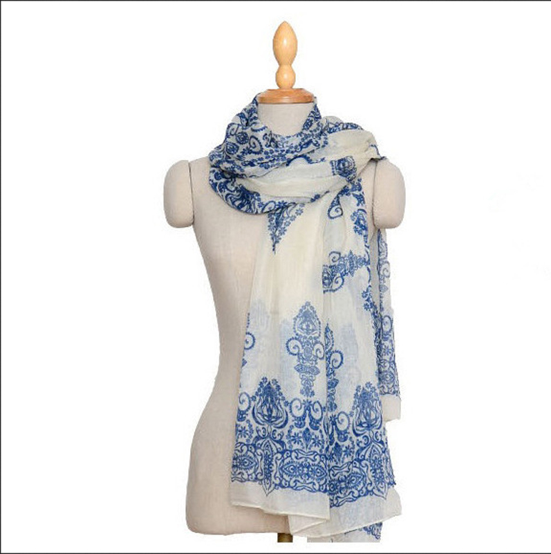 2015 New Style Fashion Vintage Scarves Wraps Chiffon And Cotton Silk Scarf Shawl Clothing For Women