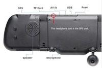 новые 5.0 дюймов сенсорный android gps wifi fm g сенсор fhd 1080p парковка автомобилей видеорегистраторов зеркало заднего вида dash cam Автомобильный видеорегистратор двойной камеры gps