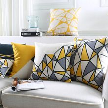 Free Shipping!Abstract geometric square throw pillow/almofadas case 45x45 53x53 60x60 30x50,european cushion cover home decore(China (Mainland))