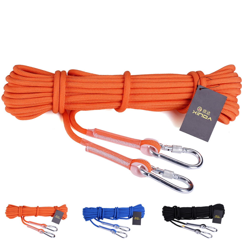 Excellent Quality 10M/Lot Climbing Auxiliary Rope 9.5mm Diameter Camping Hiking Ropes Camping Bundling equipment L-XDQJ-69(China (Mainland))