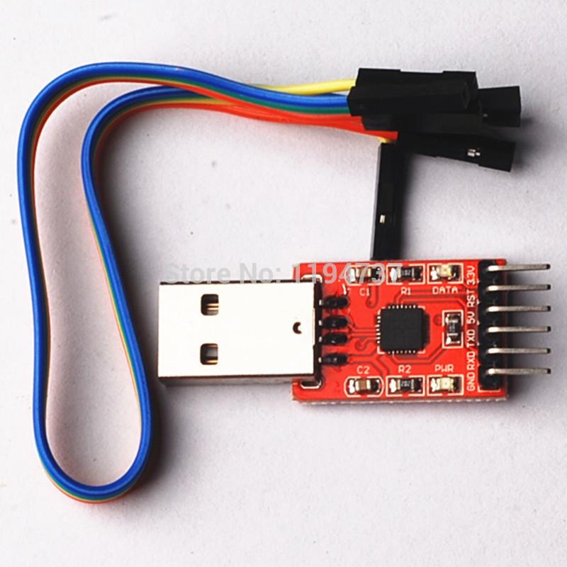 Free Shipping!! 10pcs CP2102 Serial Converter Module USB 2.0 To TTL UART 6 PIN Output(China (Mainland))