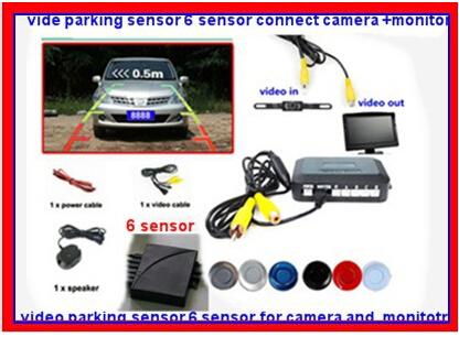 video parking sensor 2 for front 4 for back .camera sound alarm parking 6 sensor,car camera and radar system for car reverse(China (Mainland))