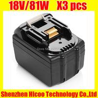 100% новый 18В bl1830 4500mah высокая емкость замена электрического инструмента аккумулятора для makita lxt400