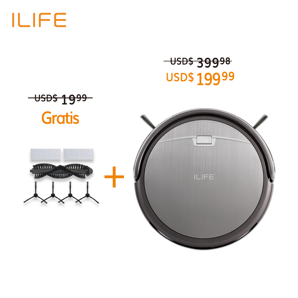 Intelligent Aspirator Robot Vacuum Cleaner 1000PA Efficient Low Noise Thin Carpet ILIFE A4s 450ML Dust Collector Remote Control(China (Mainland))