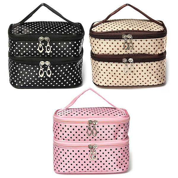 New Cute cosmetic bags Women Lady Travel Makeup bag make up bags box organizer pouch Clutch Handbag lqq(China (Mainland))