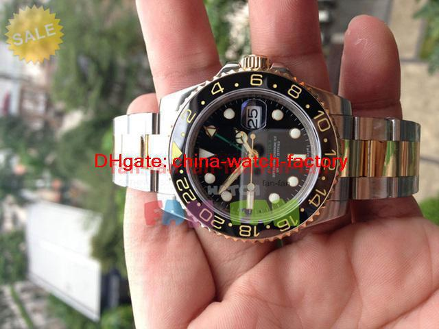 With Original Box Papers Luxury AAA Top Quality II BLACK BLUE CERAMIC #116710 Automatic Mens Watch Men's Watches(China (Mainland))