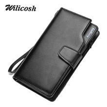 Men Wallets 2016 New Design Men Purse Casual Wallet Clutch Bag Brand Leather Long Wallet Brand Hand Bags For Men Purse WL362(China (Mainland))