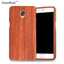 100% Geniune Natural Bamboo Wood Case Oneplus Three Back Cover Hard Wooden Shell One Plus 3 Cases Covers Phone Bag - One2More store