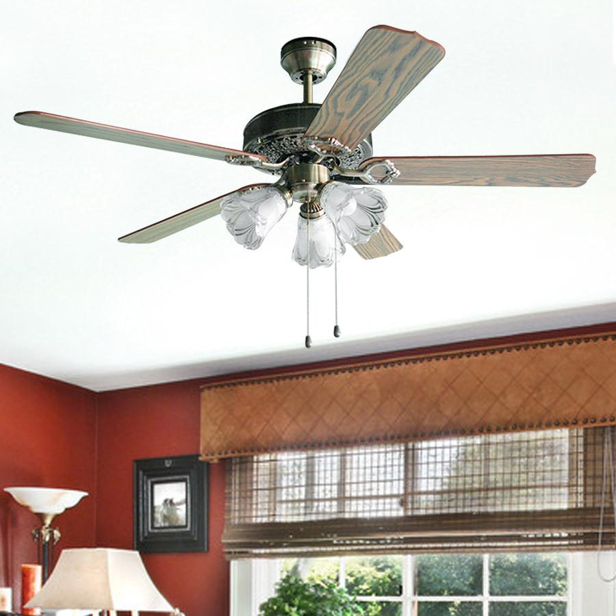 Compra ventiladores de techo r stico online al por mayor - Ventilador techo rustico ...