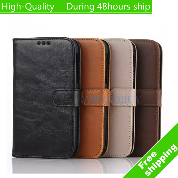 High Quality Retro Flip Wallet Leather Case Cover for BlackBerry Classic Q20 Free Shipping(China (Mainland))