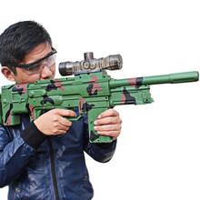 De los niños de agua de juguete eléctrico arma de la despedida de francotirador juguete pistola de bala suave capaz de disparo luz juguete de niño