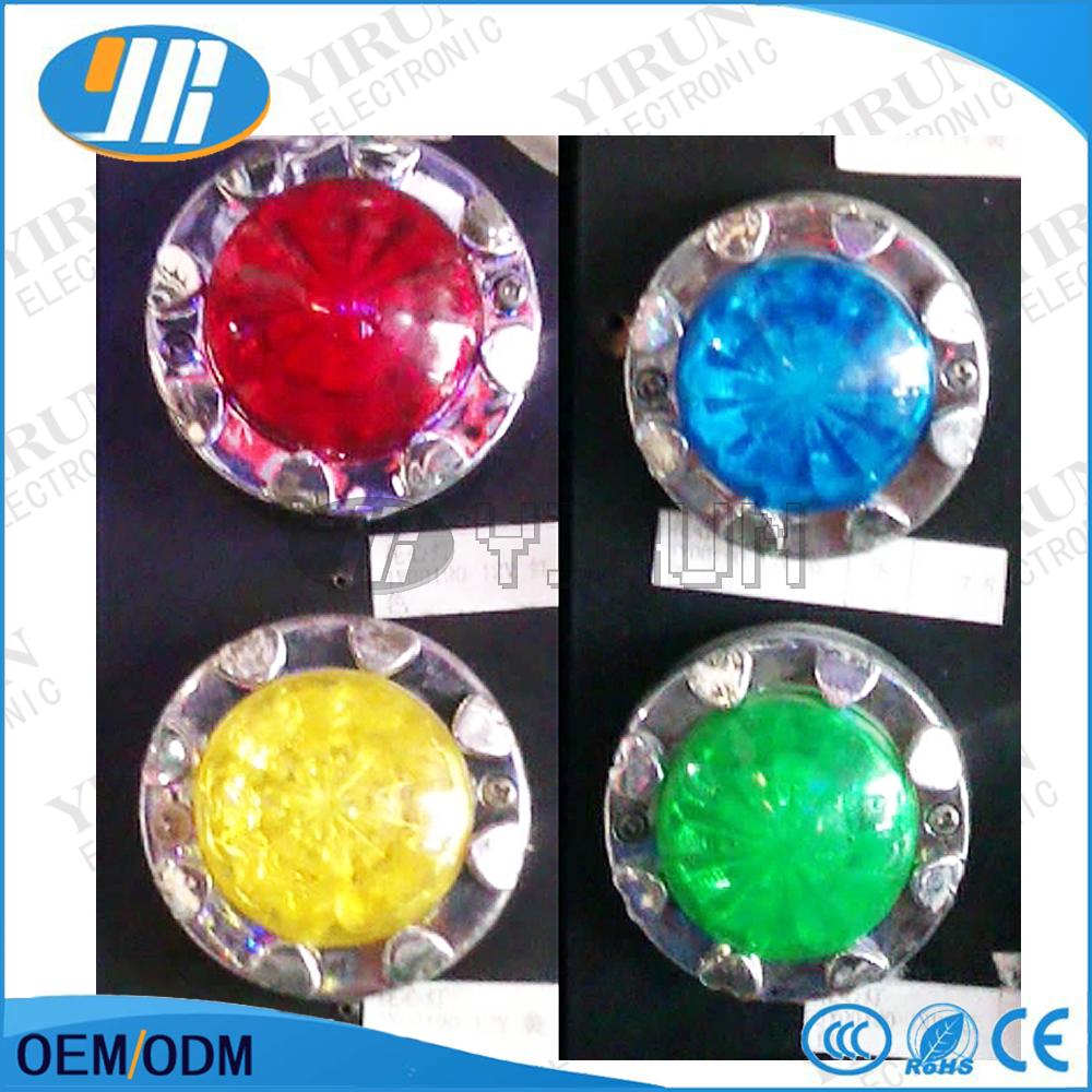 Free shipping 5pcs/lot Kiddie rides game machine parts12V LED lamp swing machine decoration colorful light(China (Mainland))