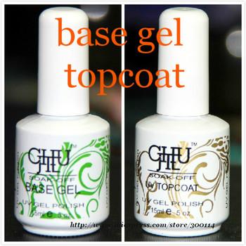 wholesale nail system ( 18pcs base gel + 18pcs top coat ) 15ml Soak-Off Nail Art Base coat Polish 36pcs/lot free EMS shipping