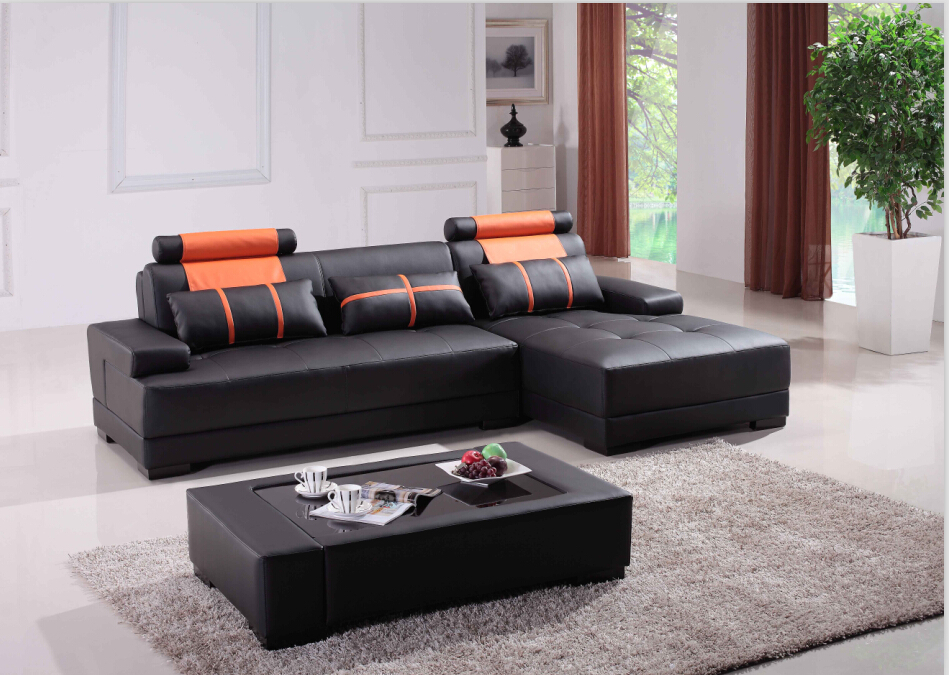 2014 lounge furniture modern living room leather sofa set for Modern sofas for sale