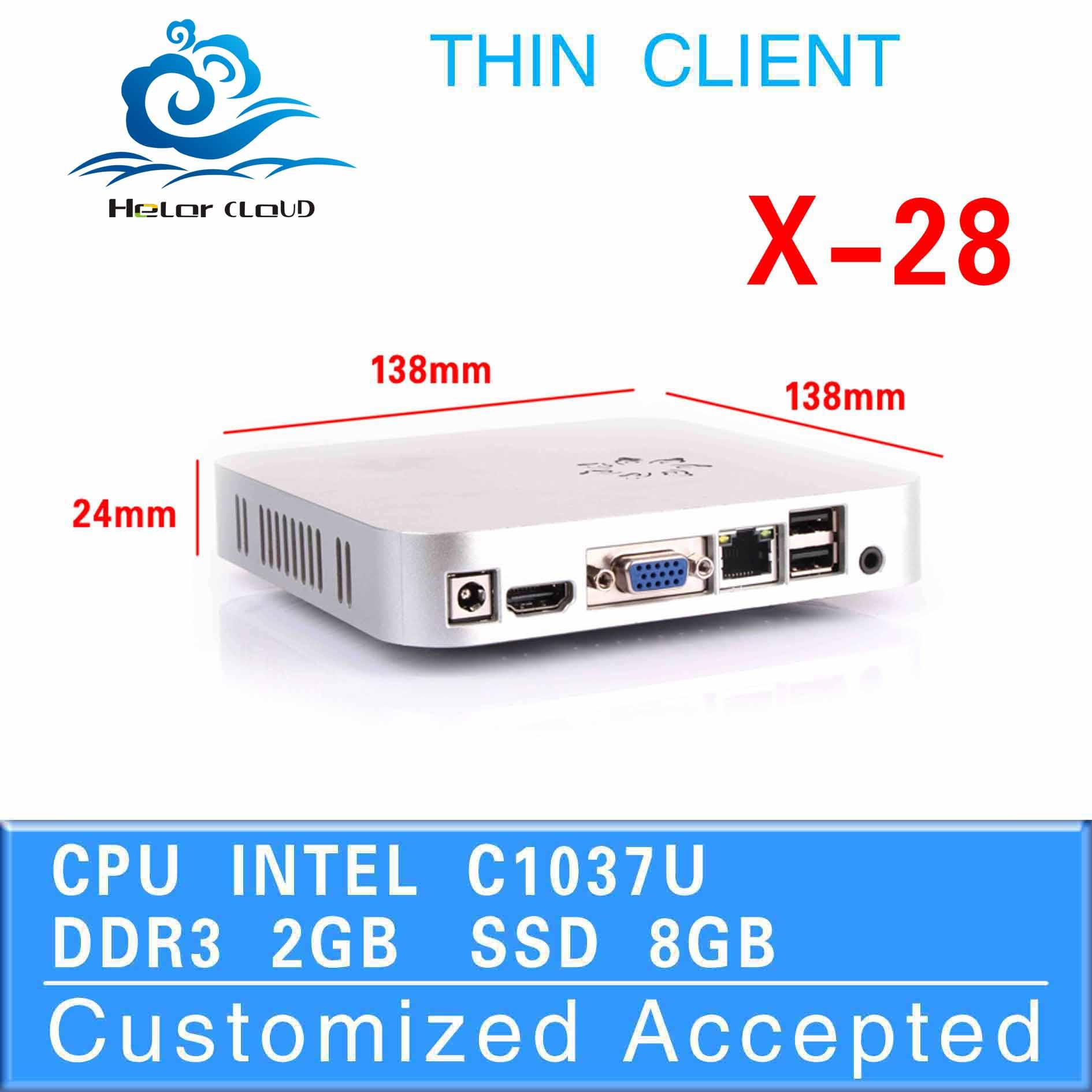 x-28 low price! fan diy pc fan thin client linux desktop pc (2GB RAM 8GB SSD 2*USB 2.0,1*HDMI 1.3,1*VGA)(China (Mainland))