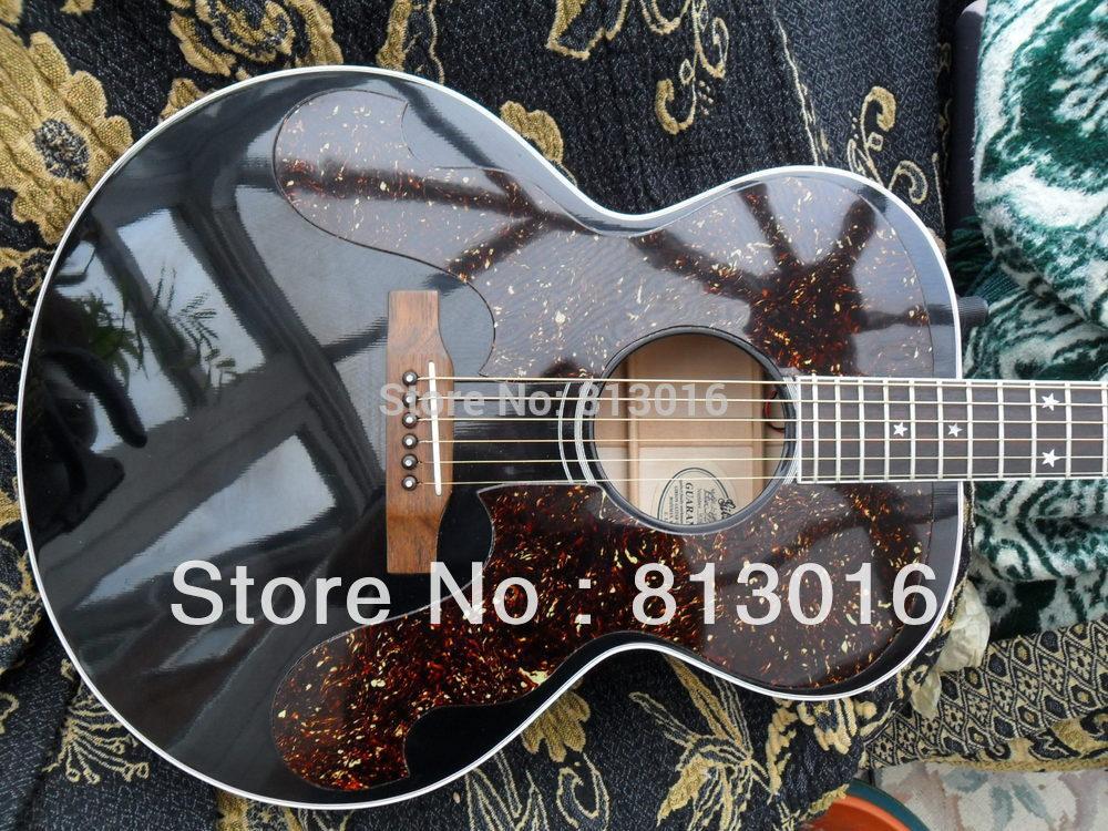 best guitar J-180 Jumbo Acoustic Fishman EQ Vintage black CLEAN electric guitar free shipping(China (Mainland))