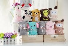 100*80cm Cartoon Animal Soft Coral Fleece Fabric Newborn Baby Infant Blankets Knee Bath Towels Bedding Quilt Home Sleeping Bags(China (Mainland))