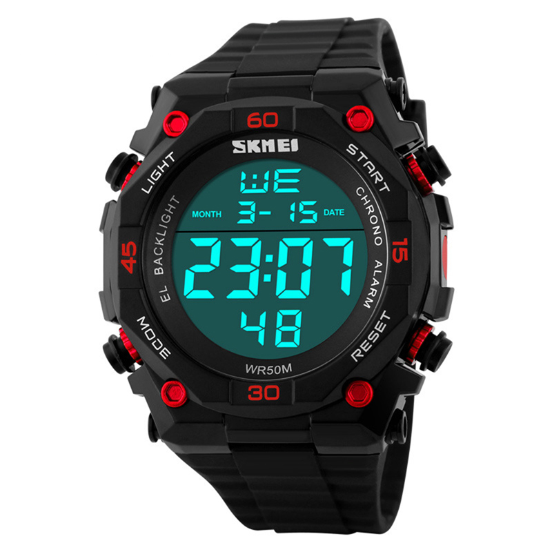 2016 New SKMEI Waterproof Led Watch Sports Fashion Shock Resistant Outdoor Digital Watch Multifunctional Military Watches Men(China (Mainland))