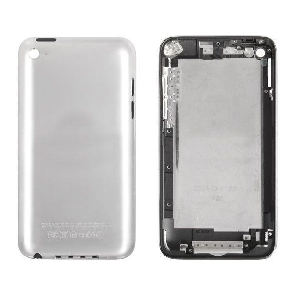 50pcs/lot OEM For iPod touch 4 back cover battery housing Replacement with black/white color DHL free shipping(China (Mainland))