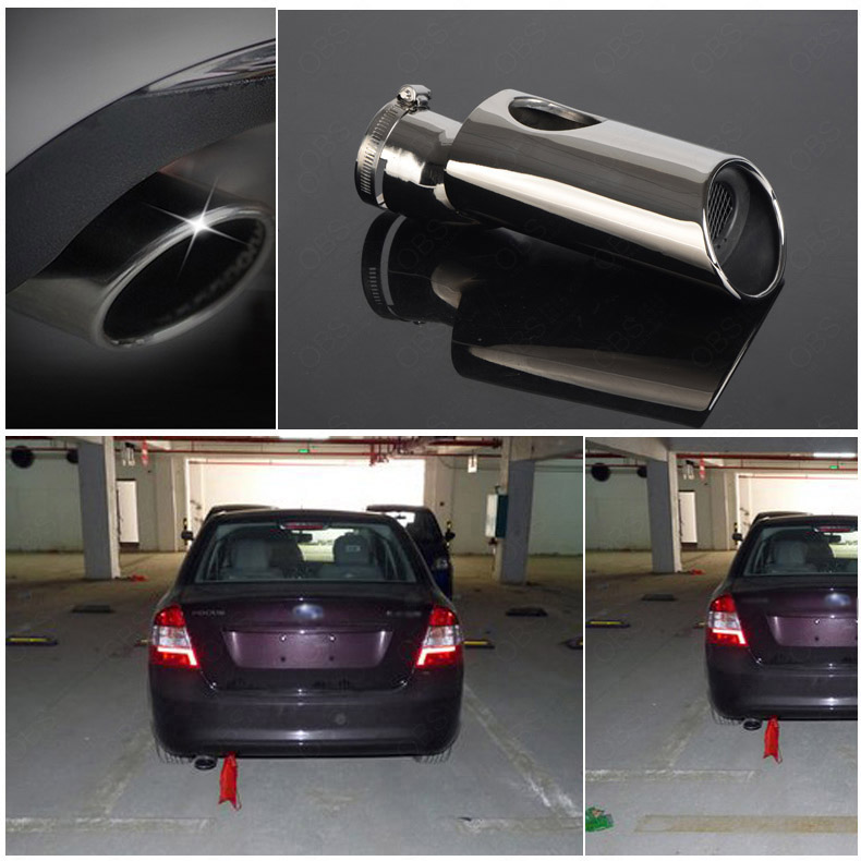 Фотография Brand New High Grade T304 Stainless Steel Exhaust Muffler Tip Tail Pipe For Ford Focus Sedan 2009-2011
