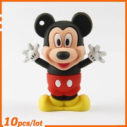 100% Genuine USB Flash Drive cartoon little mickey shaped memory stick pen drive 4GB 8GB 16GB 32GB 64GB pendrive hot sale cheap(China (Mainland))