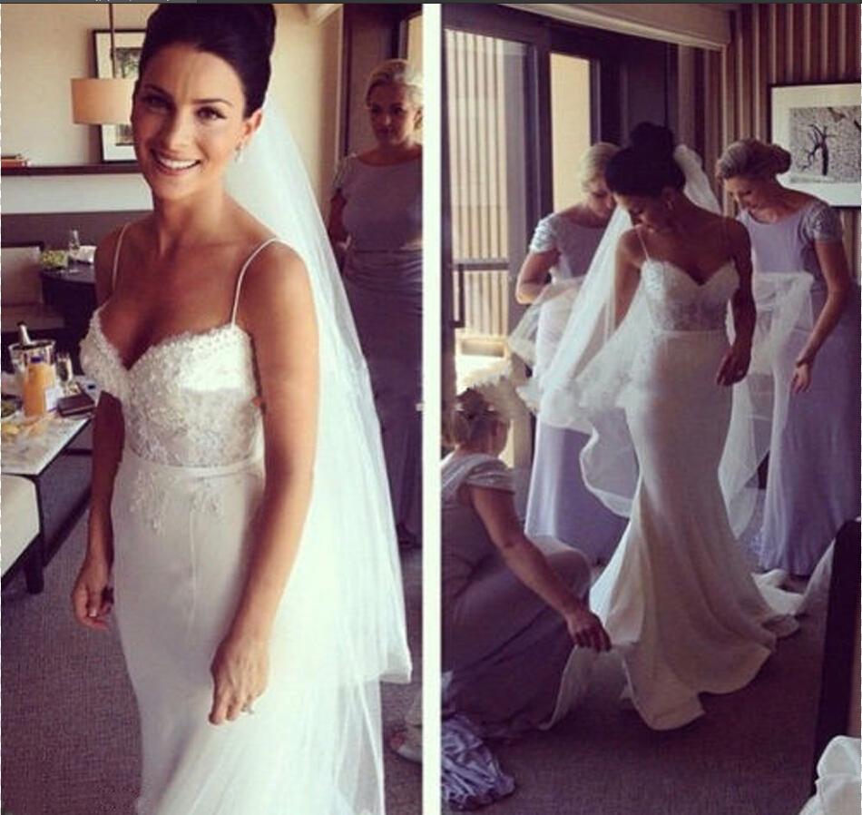 Turmec spaghetti strap wedding dress lace spaghetti strap wedding dress lace junglespirit Choice Image