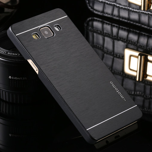 Deluxe Motomo Aluminum Metal Brush Hard Back Cover Case Samsung Galaxy J1 J3 J5 J7 A3 A5 A7 A8 A9 2016 E5 E7 Z1 On5 On7  -  iShopping-24 Hours Sincerely Serving You! store