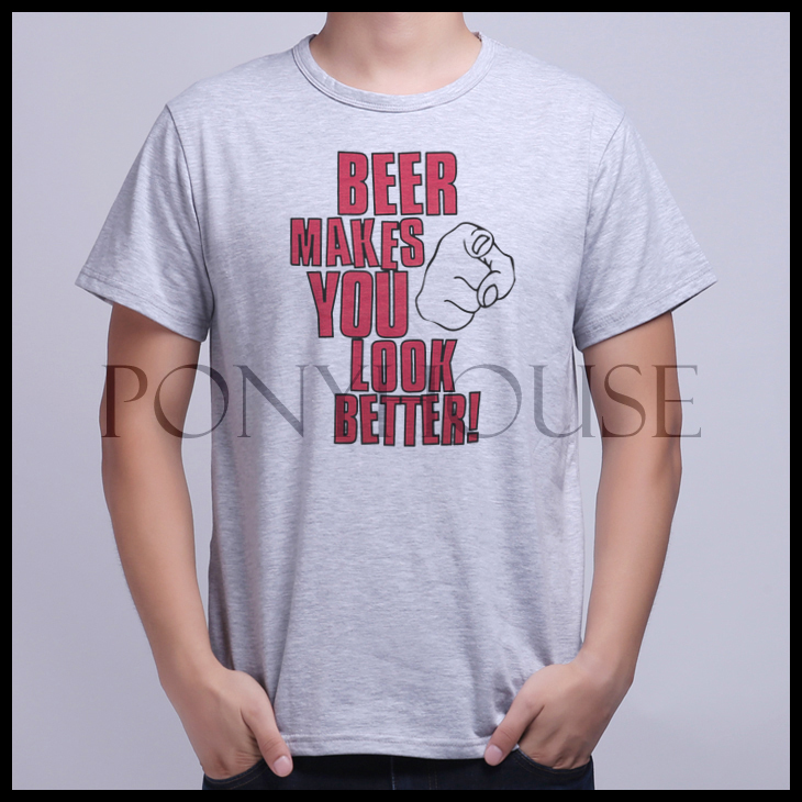 Гаджет  2015F LOO MAKE YOU LOOK BETTER Shirt Short Sleeved T-shirt BEER HUMOR male None Изготовление под заказ