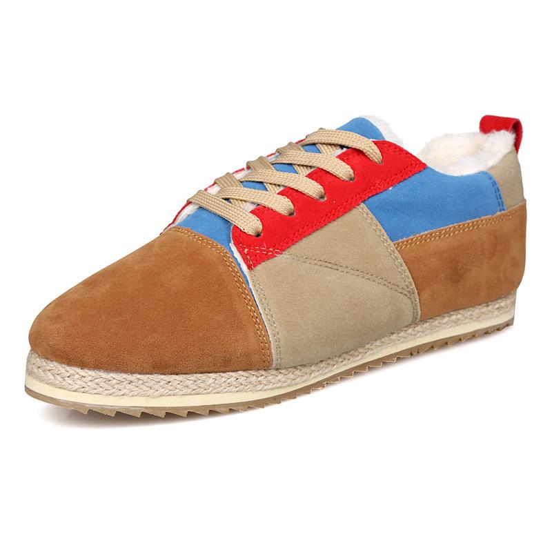 Wholesale winter warm cotton-padded men shoes Korean men's fashion casual plus cotton shoes cheap name brand sneakers(China (Mainland))