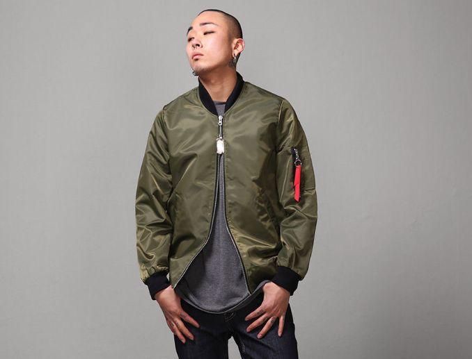 2016 Top Autumn Bomber short Jackets Men MA-1 Flight jacket kanye west hip hop streetwear Warm winter coats men Sports Coat