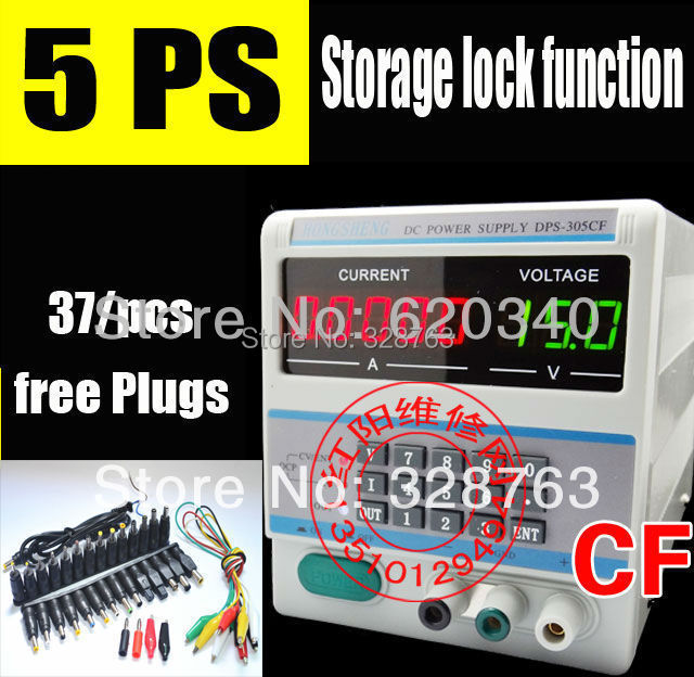5Ps 220Vof10V Adjustable dc Digital Control 30V 5A Voltage Power Supply DPS-305CF storage lock for Laptop Repair 37 free Plugs<br><br>Aliexpress