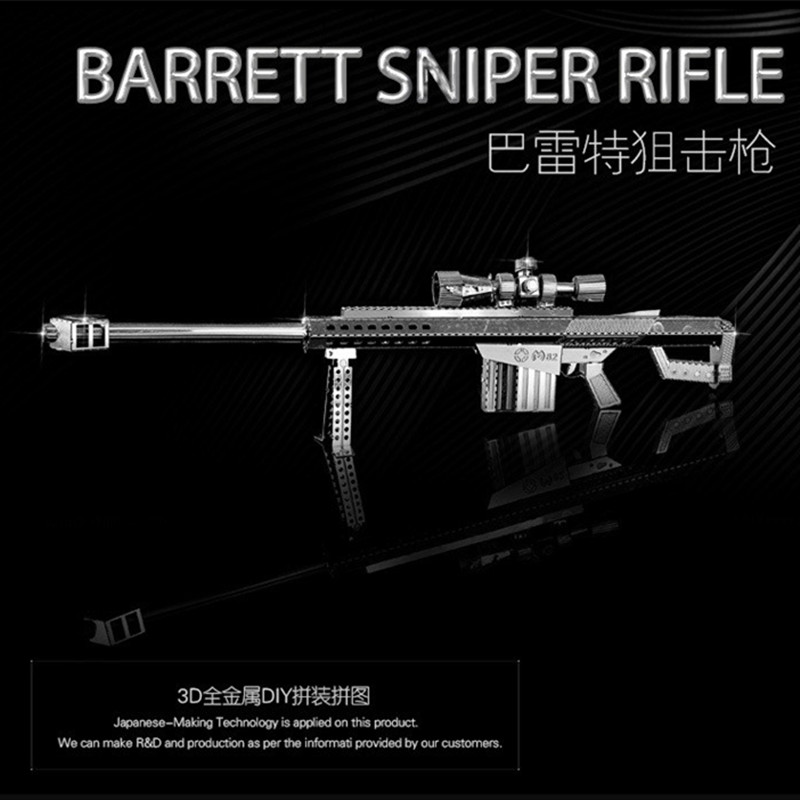 Barrett Sniper Rifle 1:10 3D metal model nano puzzle Wholesale price Stainless steel DIY Creative gifts Chinese ICONX New styles(China (Mainland))