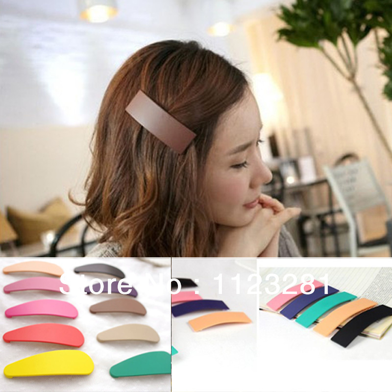 Free shipping! 70PCS/lot 14 colors Candy color big BB clip / Frosted edge clip , girl's hair accessories products(China (Mainland))
