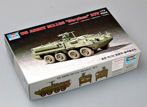 hobby tank model 1/72 US army M1126 Stryker ICV armored car (standard type) tank model kit 3D Building blocks toy set(China (Mainland))