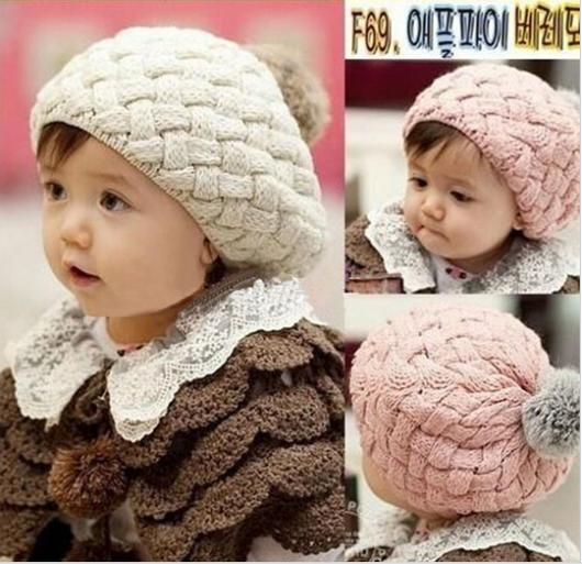 2016 Fashion Cute Winter Baby Hat Toddler Knitted Crochet Baby Beanie Hat Cap Beret bonnet enfant 4 Colors Y1(China (Mainland))