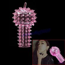 10Pcs/Lot Hot Finger Sleeve Stimulator Condom Barbed G-point Stimulate Adult Sex Toys Products(China (Mainland))