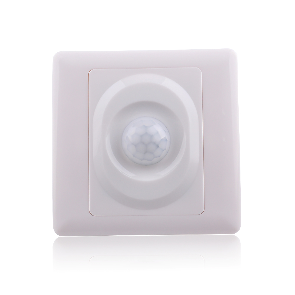 BESTER 110-220V PIR Infrared Motion Sensor Switch,Wall Mounted 5-8m Sensor Light Switch(10pcs BS017)<br><br>Aliexpress