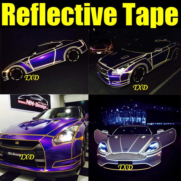 2CMX10M Decoration reflective tape for car body decoration,3m reflective vinyl film(China (Mainland))