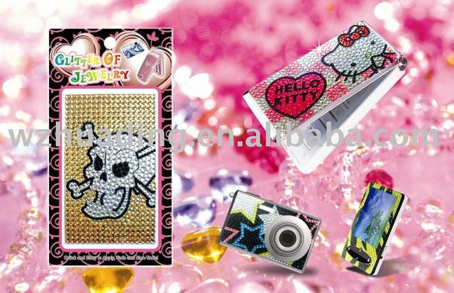 Rhinestone crystal sticker for mobilephone/ iphone 4GFree Shipping + Mix Designs To Order !!