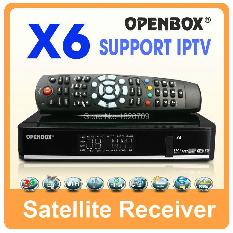 1PC Free Shipping OPENBOX X6 Satellite Receiver USB WIFI/ 3G, cccam newcamd Sharing SKYBOX F3/F3S/F5S/F4S/V6/V8/V7/X6(China (Mainland))