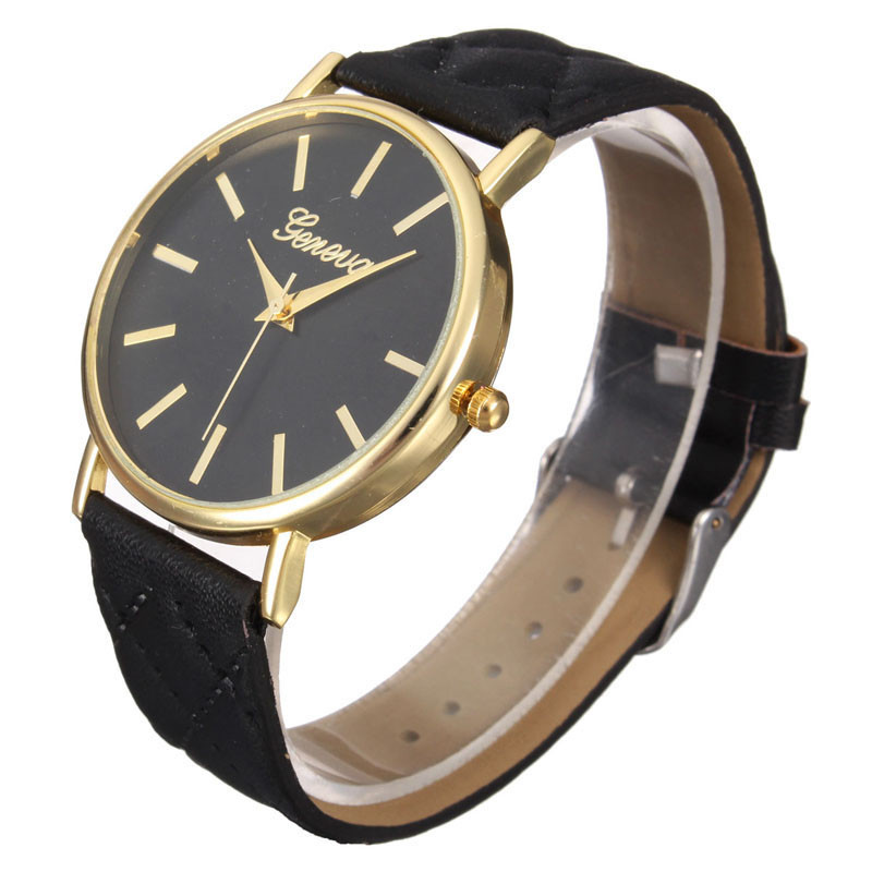 Yoner Watch Ladies Watch Belt Diagonal Checkered Plaid font b Tartan b font Table Watch Quartz