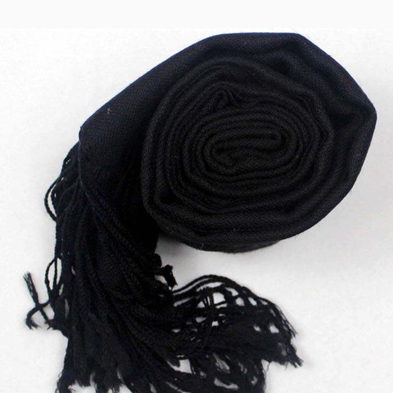 LING Real 100% Wool Women Shawls,180*70CM Long Size Lambswoo Pashmina,Echarpe,Warm Black Scarfs For Autumn Winter W3908(China (Mainland))