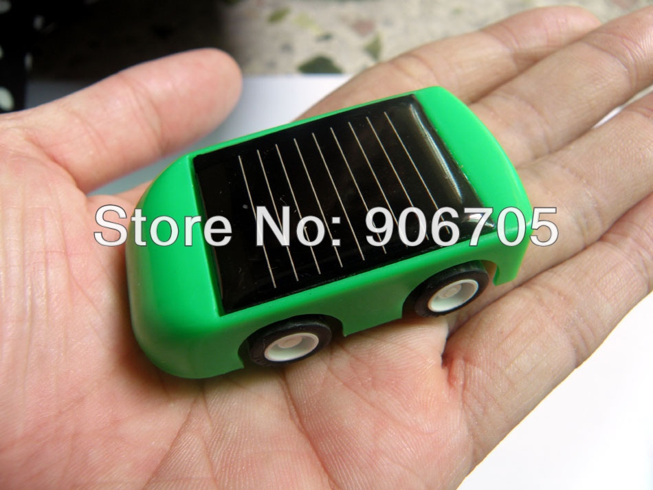 Plastic DIY Solar car kit for kids, Children's solar power toys educational toys with red,blue,green 3 colours mixed,800pcs/lot(China (Mainland))