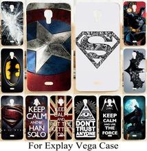 Супермен логотип денщик капитана американского крышки корпуса твердая кожа чехол для Explay вега чехол сотовый телефон покрытия