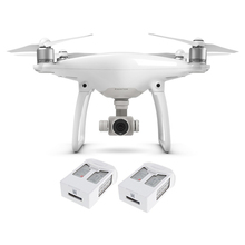 100% Original DJI Phantom 4 with Two Extra Batteries Smart 4K Camera Drones Quadcopter Helicopter FPV Visual Tracking