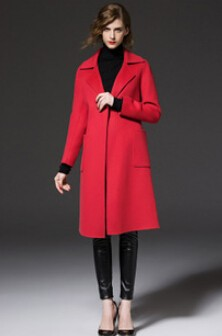 Latest European Style Women Winter Coat High-end Cashmere Woolen Cloth Coat Women Slim Big yards Leisure Medium long Coat G2234
