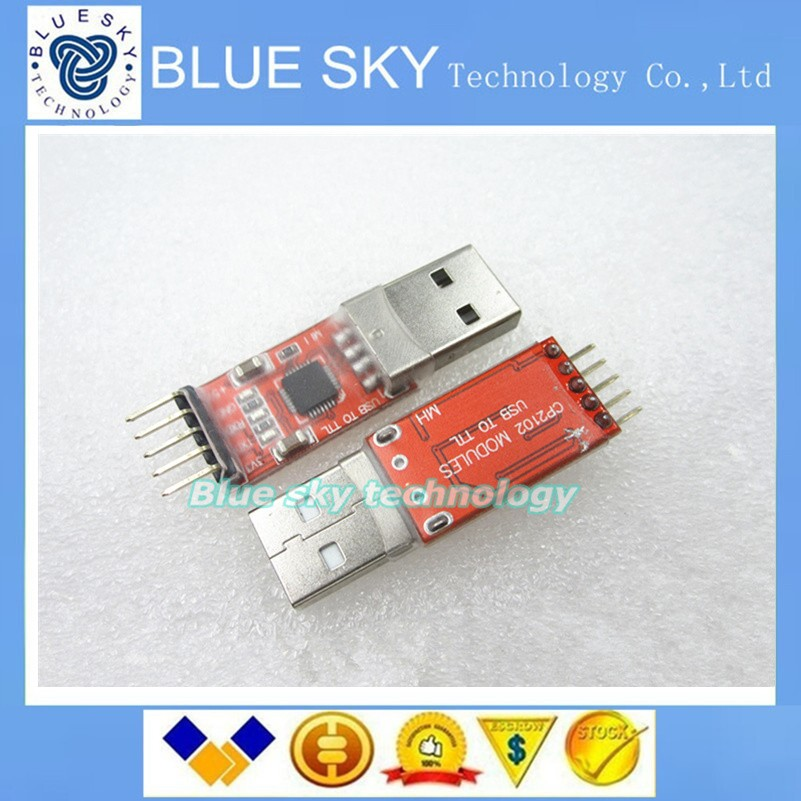 50pcs/lot CP2102 module USB to TTL serial UART STC download cable PL2303 Super Brush line upgrade for arduino(China (Mainland))