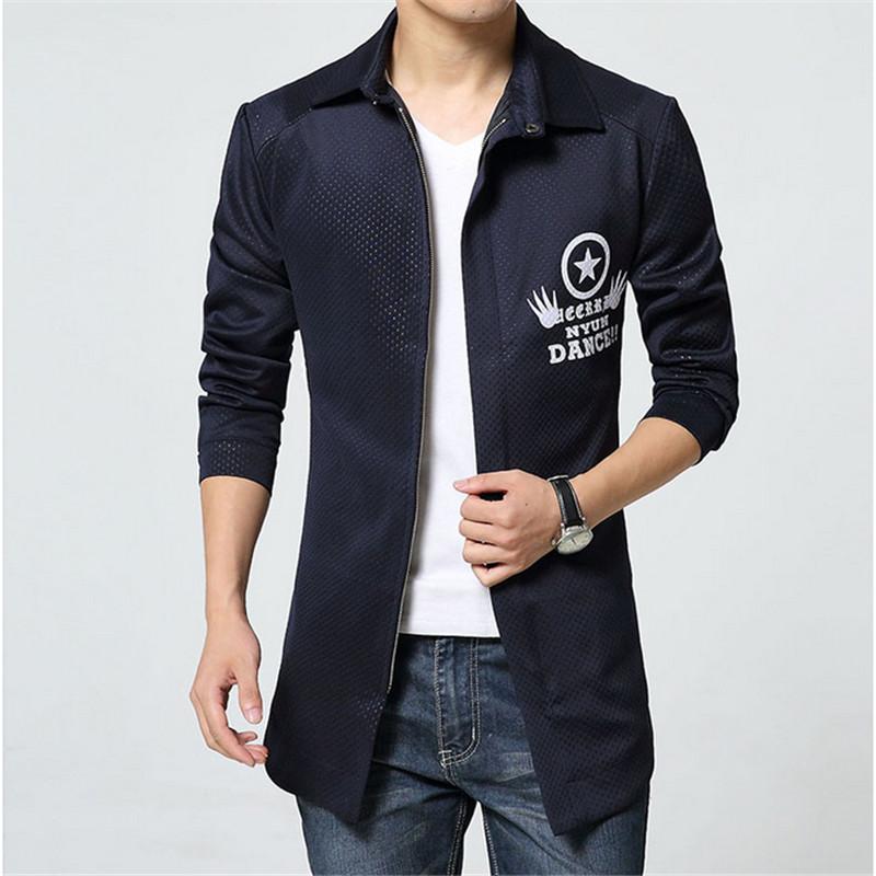Men Medium-long Trench Coat Korean Spring Autumn Slim Fit Windproof Jacket Coat Business Cotton Loose Fashion Overcoats F1867Одежда и ак�е��уары<br><br><br>Aliexpress